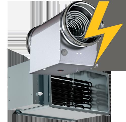 Электрические канальные нагреватели