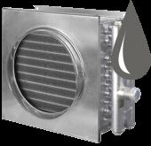 Водяные канальные воздухонагреватели для круглых воздуховодов