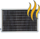Паровые стальные оребрённые калориферы/воздухонагреватели