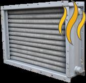 Паровые биметаллические спирально-накатные калориферы/воздухонагрепатели