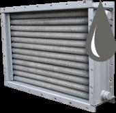 Водяные биметаллические спирально-накатные калориферы/воздухонагреватели